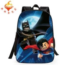 Hot cartoon baggage Lego printng backpacks major faculty bag Batman character schoolbag boy lady favoriate satchel