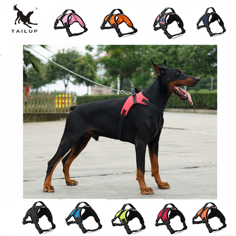 TAILUP Large Dog Harness POLICE K9 Collies Collar High Quality Adjustable Vest Dog Training Pet Saddle Harness S M L XL