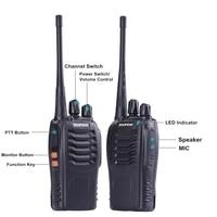 ham cb רדיו 4pcs Baofeng BF-888S מכשיר הקשר UHF 5W 400-470MHz 16CH כף יד רדיו דו כיווני Comunicador צג סריקה Ham CB רדיו BF 888s (2)