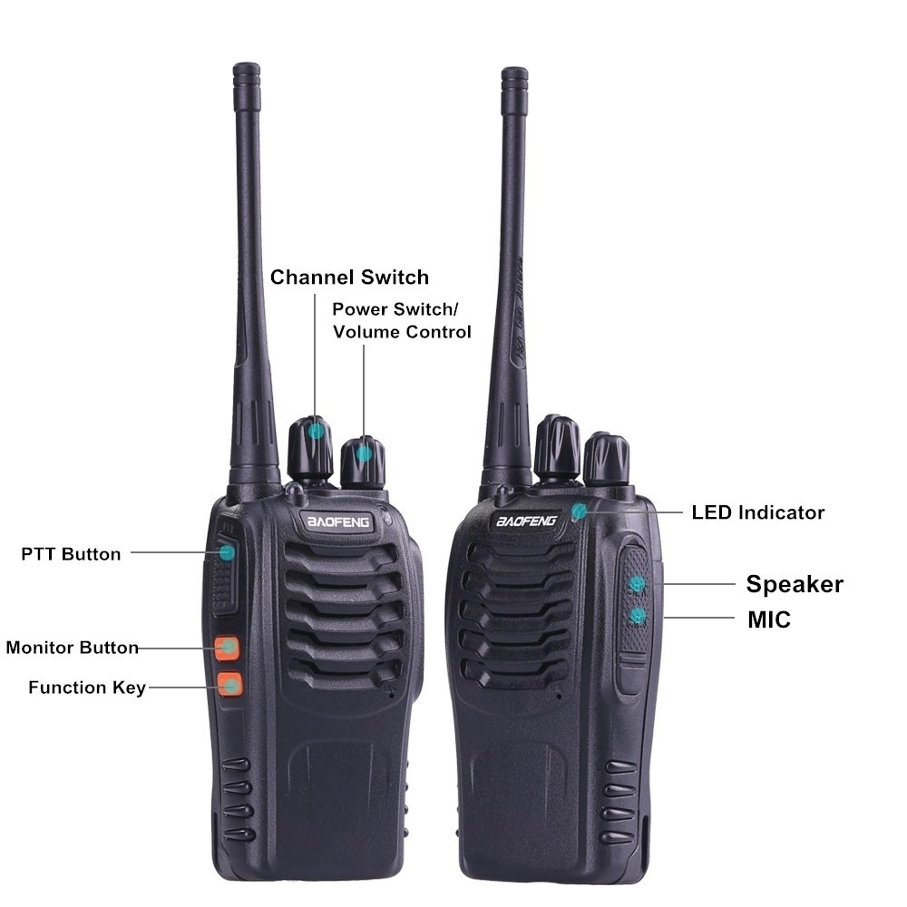 Image 4 - 4pcs Baofeng BF 888S Walkie Talkie UHF 5W 400 470MHz Handheld Two Way Radio hf FM Transceiver Comunicador Ham CB Radios BF 888s-in Walkie Talkie from Cellphones & Telecommunications