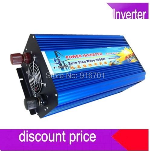 цена на Inverter 3000W Pure 3000W 3000VA PURE SINE WAVE INVERTER 24V DC 220V AC 230V AC 6000W 6kw PEAKING HOME OUTDOOR