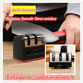 Sharpener  Kitchen Knife Sharpener Household Multifunction Three Notches Knife Sharpener Sharping Quick Sharpener