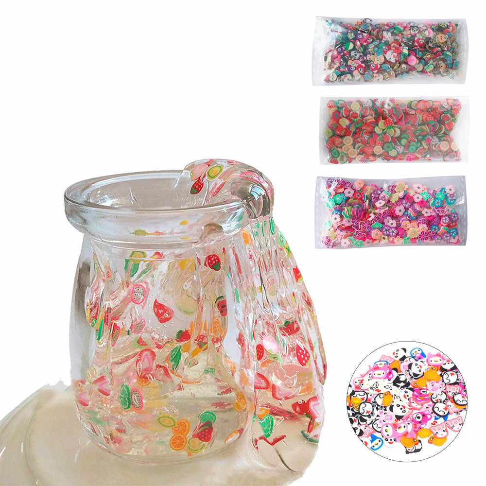 2018 Toy Children adult decompression artifact Fruit Cake Slices Soft Scented Stress Relief Toy Sludge Toys For Slime