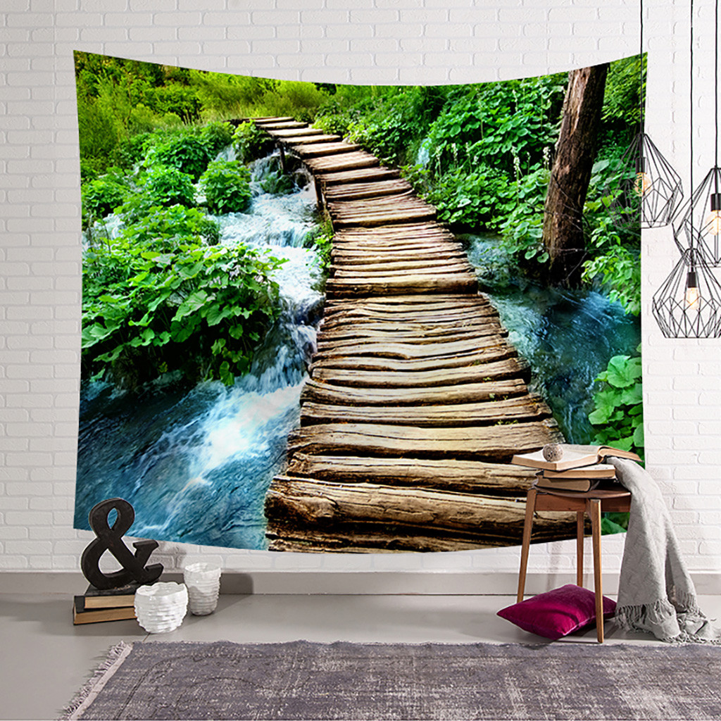 Wandteppich Modern Us 3 52 38 Off Aliexpress Buy Beautiful Scenery Scene Home Textile Wall Tapestry Home Decor Farmhouse Decor Tapiz Pared Tela Wandteppich