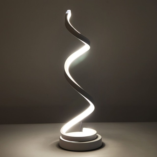 Creative design spiral modern table light acrylic table lamps for creative design spiral modern table light acrylic table lamps for bedroom beside lamp home decor lighting aloadofball Image collections