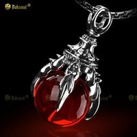 Dragon Talon Claw Necklace Pendant Free With Chain - 925 Sterling Silver