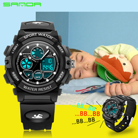 Alarm Clock SANDA Children Sports Wrist Watches Kids LED Digital Quartz Military Watch Boy Girl Student