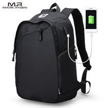 Многофункциональный USB зарядки мужчин 14-дюймовый ноутбук Рюкзаки для подростков Модные мужские Mochila отдыха и путешествий рюкзак