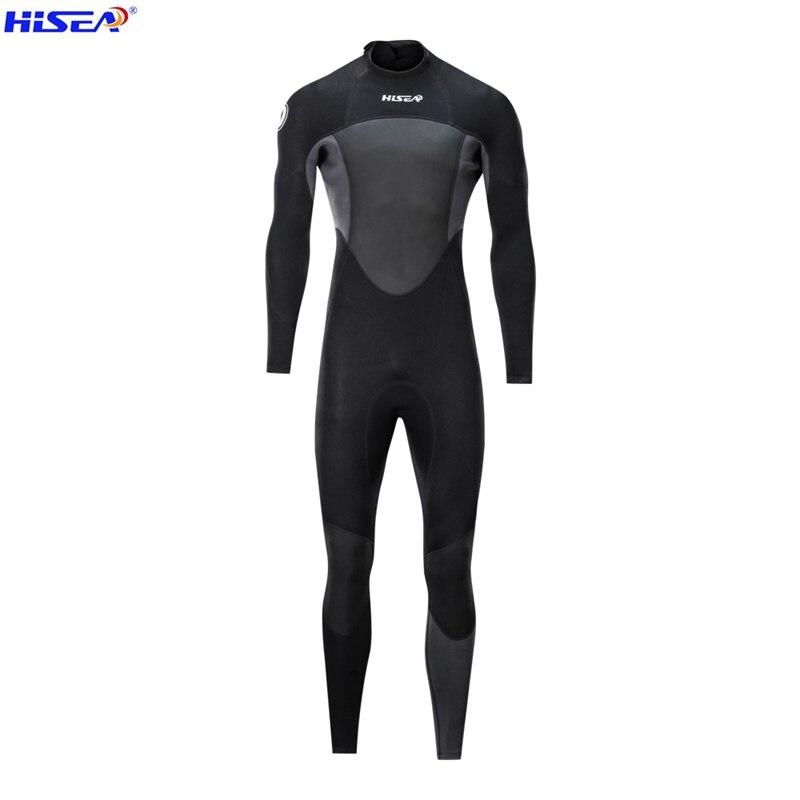 Hisea nouveau 1.5mm hommes néoprène noir combinaison couture Surf équipé équipement de plongée méduse vêtements à manches longues une pièce