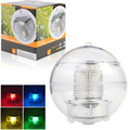 MUMENG LED Solar Lamp Outdoor RGB Solar Power Globe Water Floating Light Color Changing Auto Decoration Night Spotlight