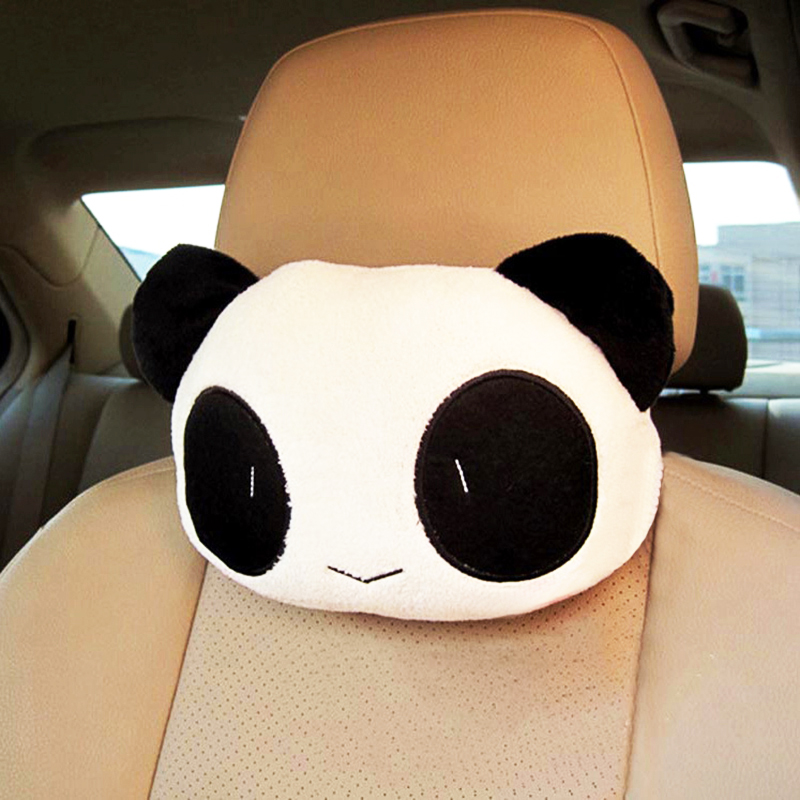 Cute Lovely Panda Neck Pillows 3D Style Head Rest Car Headrest Automobile Seat Covers Supplies for Auto Make Neck Comfortable