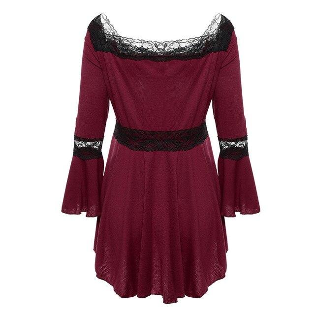 Retro Vintage Ladies Patchwork Lace Dress 2018 Summer Plus Size Ruffle Dresses For Women 4xl 5xl Gothic Party Dress Robes Femme 5