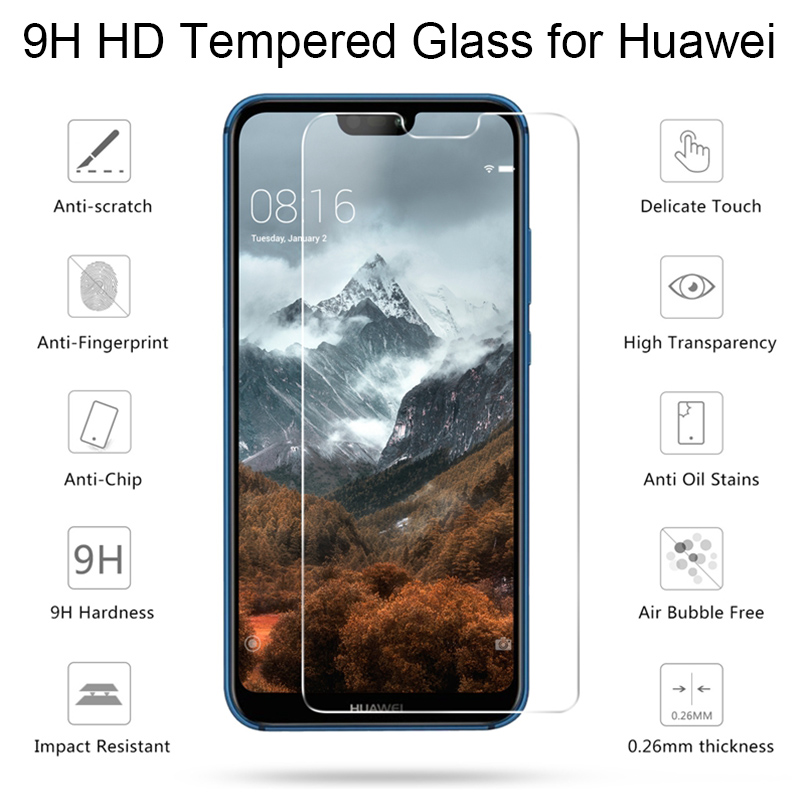 Tempered Glass For Huawei P9 P10 Lite Phone Screen Protector Film For P8 Lite 2017 Protective Glass For Huawei P20 Lite P 20 Pro