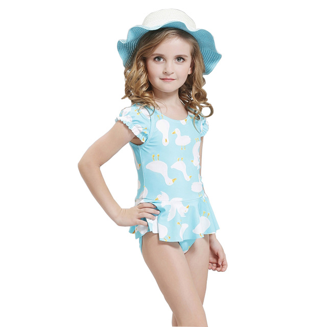 3528cd80d4 Children Swimming Clothes 2017 Girls Swimsuit One-piece Swimwear Swimsuit  For Kids Baby Swimming Suit