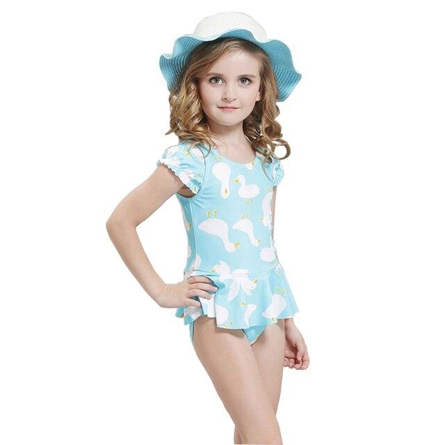 cbca1a2e3588 Nuoto per bambini Vestiti 2017 Ragazze Costume Da Bagno di Un pezzo Costumi  Da Bagno Costume