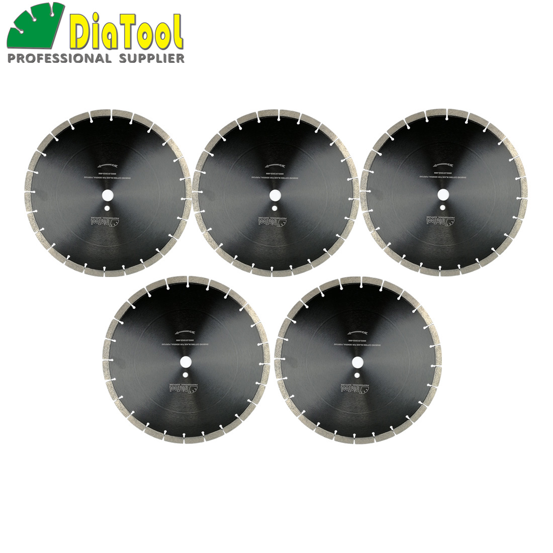 DIATOOL 5pcs 14inch Sintered Segmented Diamond Blade Cutting Disc Circular Saw Blades Dia360mm Concrete Blade Diamond Wheel Disk