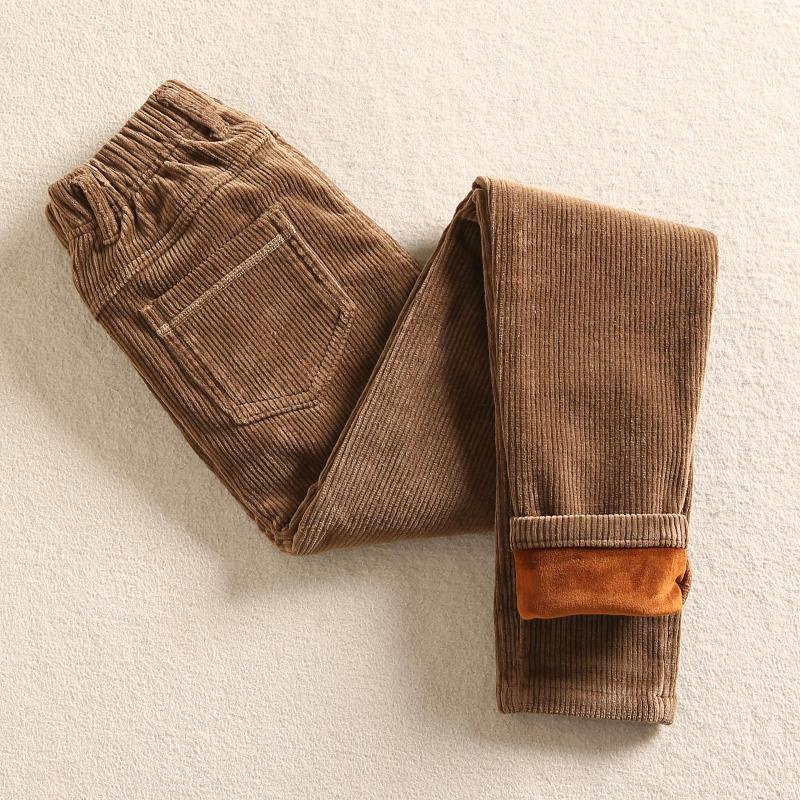 High Waist Corduroy Harem Pants Women Autumn Winter Plus Velvet Thick Casual Corduroy Llong Trousers Women Warm Sweatpants C4718