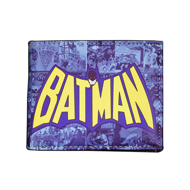 Comics DC Marvel the Avengers Batman Wallets PU Leather Creative Gift Purse Logo Credit Oyster License Card Holder Wallet ...