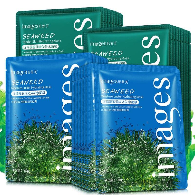 Images Seaweed Face Mask Algae Alginate Moisturizing Whiten Korean Facial Skin Care Shrinkage Pores Oil-control Beauty Masks