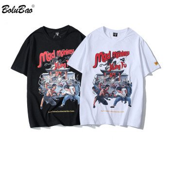 BOLUBAO Fashion New Men T-shirt  Print Cotton  Male T Shirts Cartoon Hip Hop Men's Street Clothing Tee Top queen freddie mercury howl t shirt white hip hop novelty t shirts men s brand clothing top tee summer 2017 100