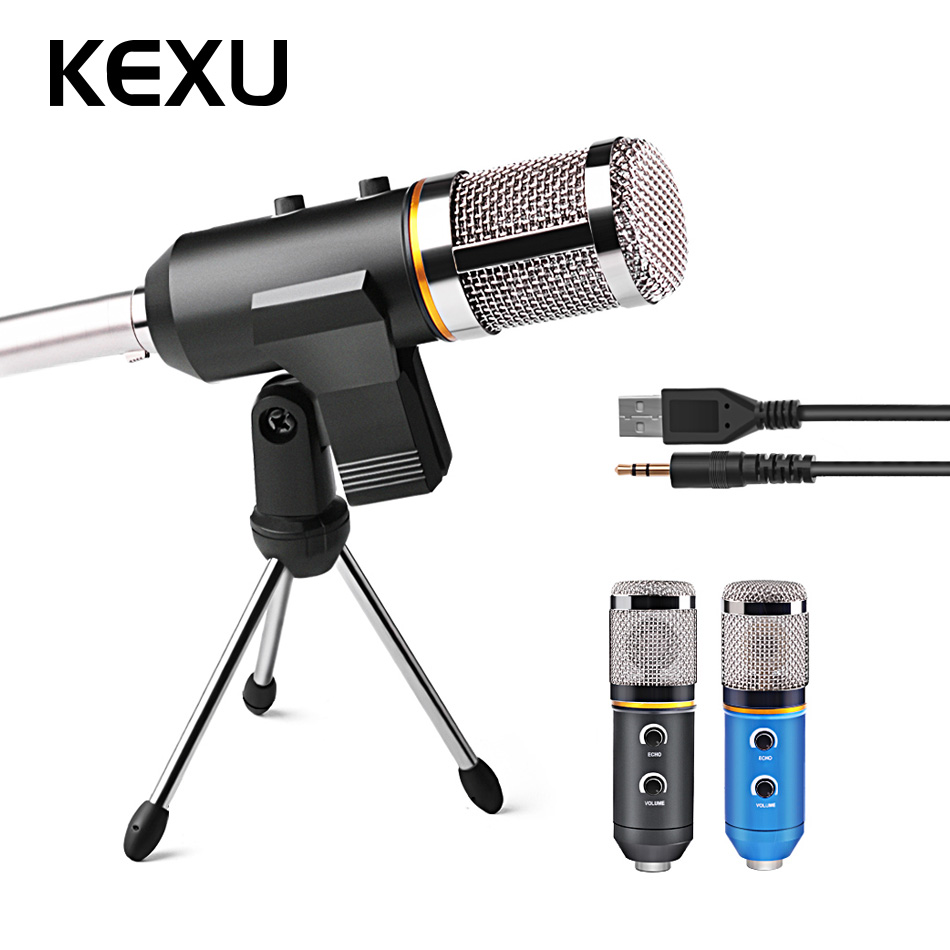 MK-F200TL Professionnel Microphone USB Microphone À Condensateur pour Enregistrement Vidéo Karaoké Radio Studio Microphone pour PC Ordinateur