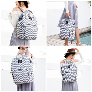 Image 2 - 100% 원래 lequeen 패션 미라 출산 기저귀 가방 대용량 기저귀 가방 여행 배낭 베이비 케어를위한 간호 가방