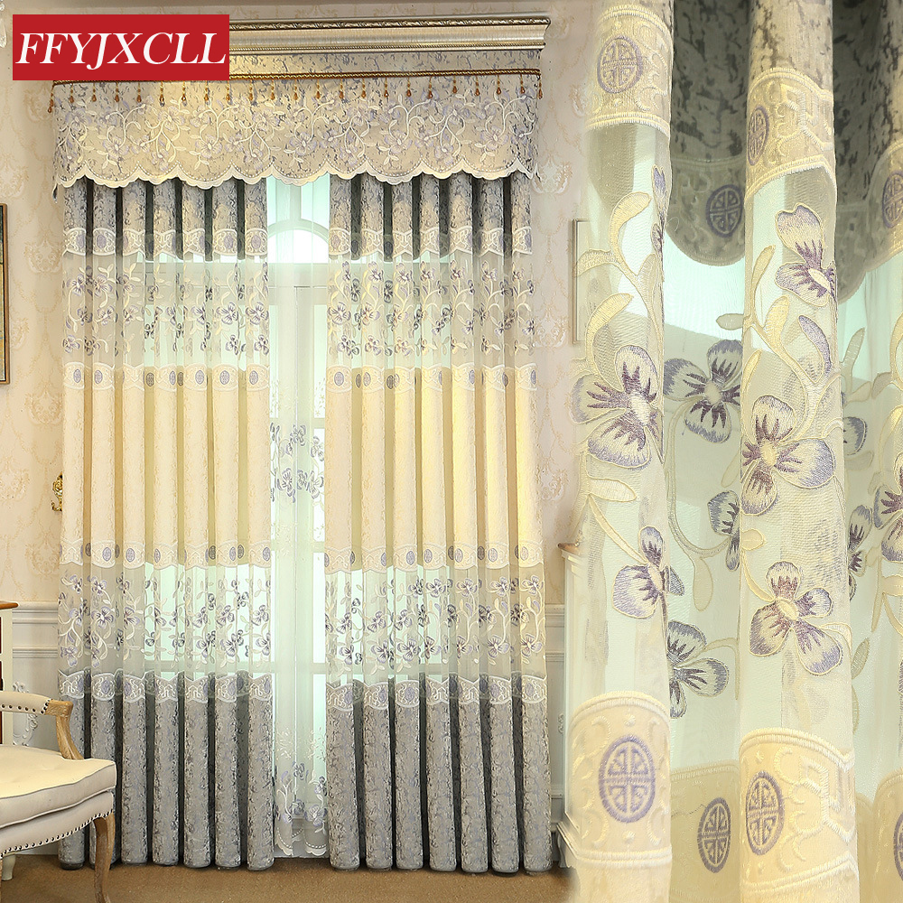 Europe Hot Sales Embroidered Curtains For Living Room Bedroom Kitchen Tulle Curtains Window Treatment Drapes Home Decor