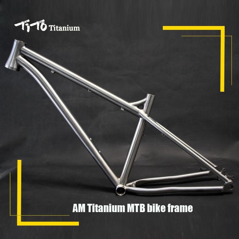 FREE SHIPPING!!! TiTo New Titanium Frame AM Hard Tail 26``  27.5`` Mountain Frame