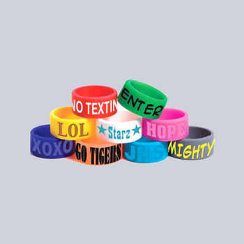 Free Shipping 500PCS/lot  customized Personalized Screen Printing Swirl vape band,silicone rings for promotional gifts SR006 - DISCOUNT ITEM  0% OFF All Category
