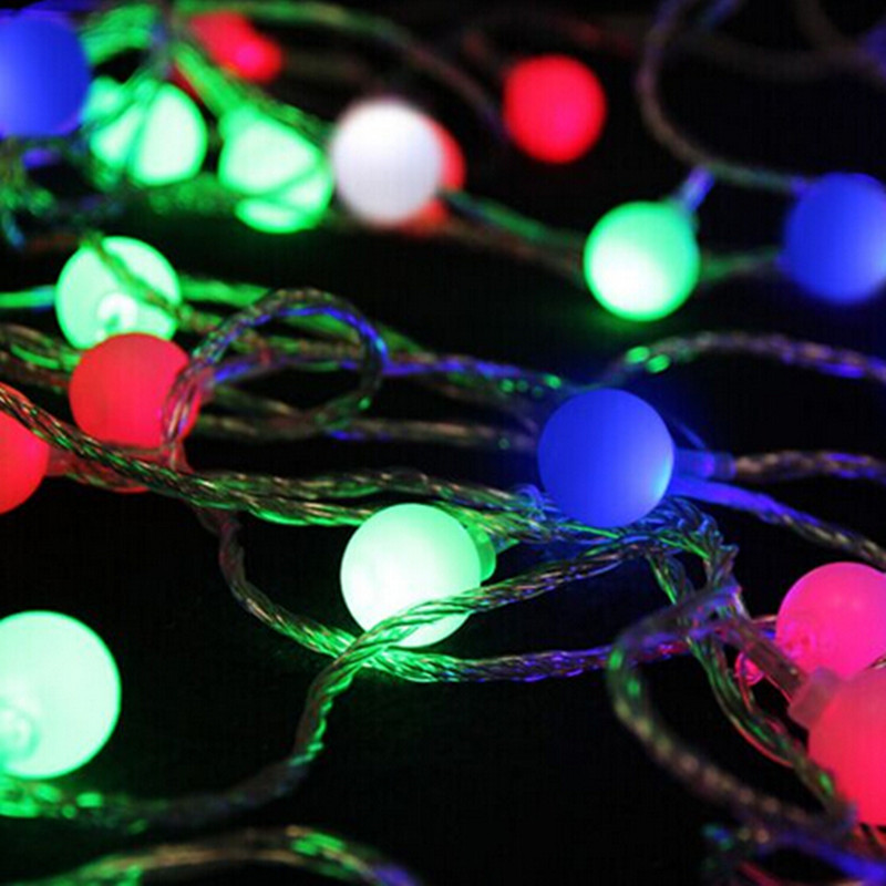 20m 200 LED String Matte Ball Warm White Holiday String Lights Party Wedding Fairy Christmas Light Decor Supplies