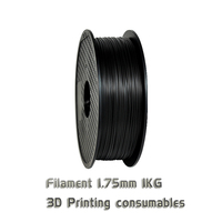 TOPZEAL Premium Solid ABS Filament 3D Printer 1.75mm 1KG Plastic Rubber Consumables Material Black Color for 3D Printing