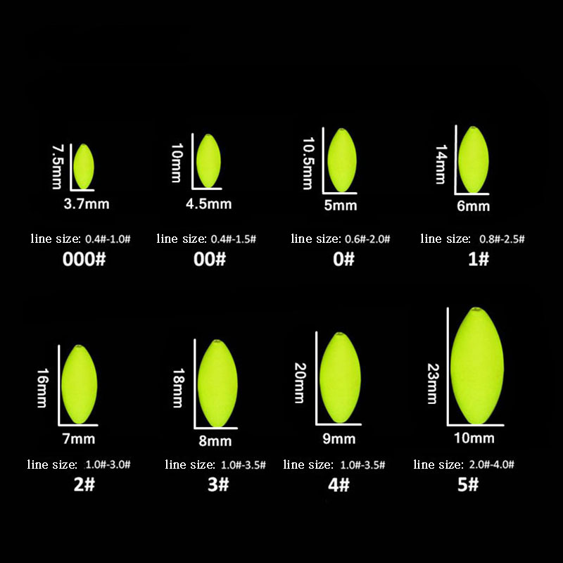 30pcs lot Fluorescent Seven Star Float Fishing Float Connector Fishing Line Mini Oval Float Fishing Tackle Accessory B190 in Fishing Float from Sports Entertainment