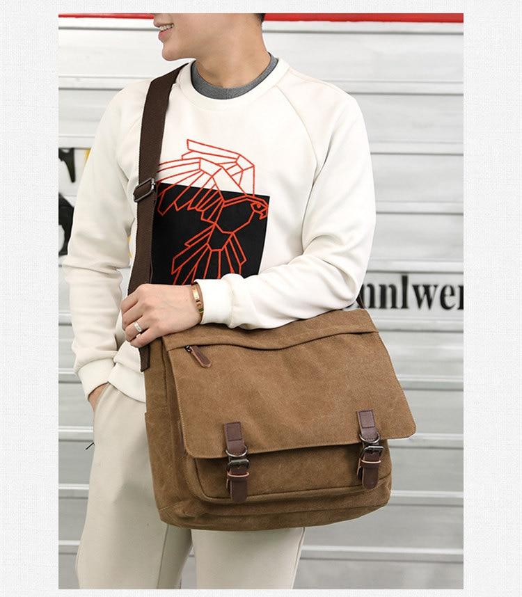 Micom Canvas Men Messenger Bags Vintage Shoulder Belt Bag Large Capacity Business Travel Bag Men\`s Canvas Crossbody Handbag New (11)