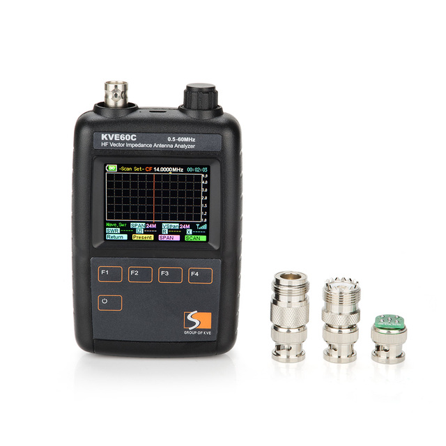 HF Vector Impedance Antenna Analyzer KVE60C With Graphical Display  For Walkie Talkie Antenna Testing