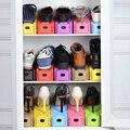 1 unid Nuevo Popular Zapatos de Almacenamiento En Rack Bastidores de Zapatos Modernos Doble Limpieza Salón Cómodo de Zapatos Caja de Zapatos Organizador Soporte de Estante