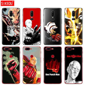 silicone cover phone case for Oneplus one plus 6 5T 5 3 A3000 A5000 anime One Punch Man