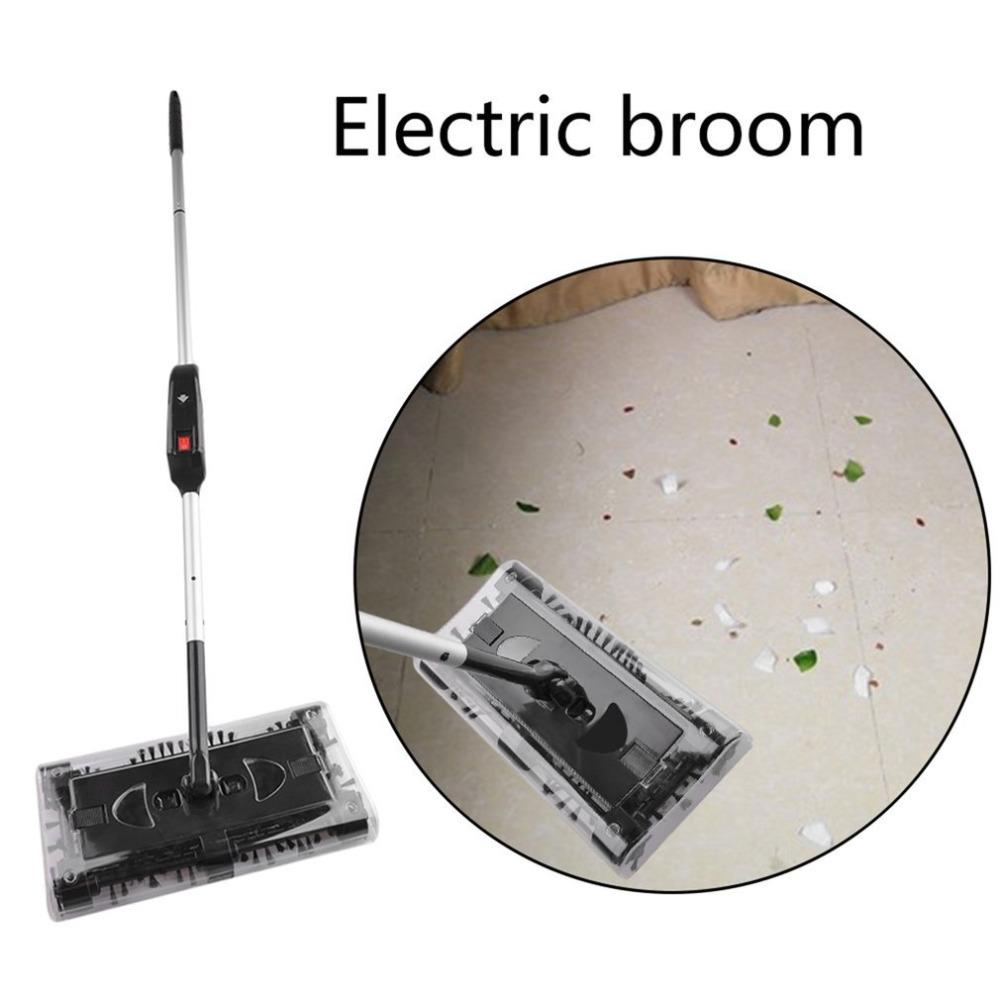 Cordless Electric Sweeper Vacuum Cleaner Hand-push Type Mop Rechargeable Battery 360 Degrees Rotation Carpet Floor Cleaner