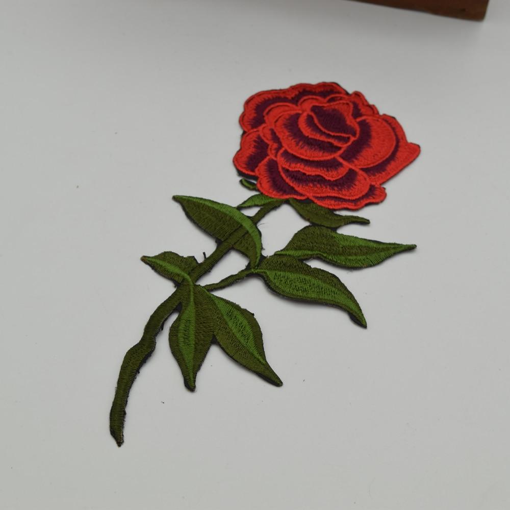 10 piezas moda bordado flor roja parche hierro en apliques coser - Artes, artesanía y costura - foto 2
