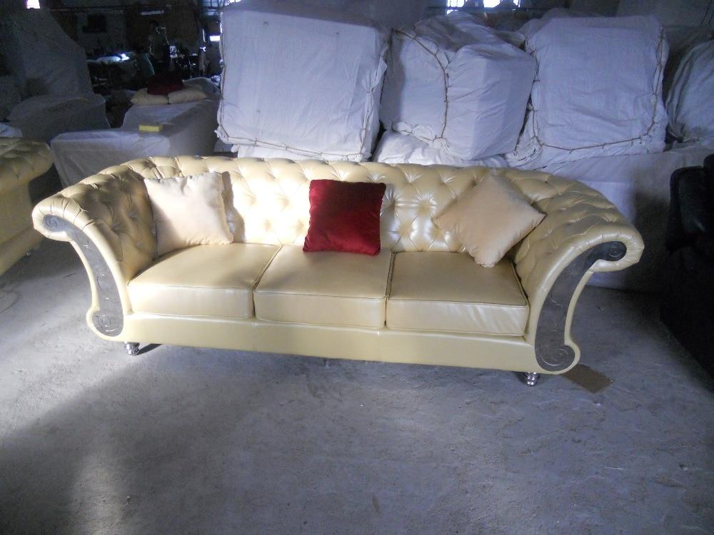JIXINGE Divano classico di alta qualità con chiusura a tirante, divano Chesterfield in stile europeo
