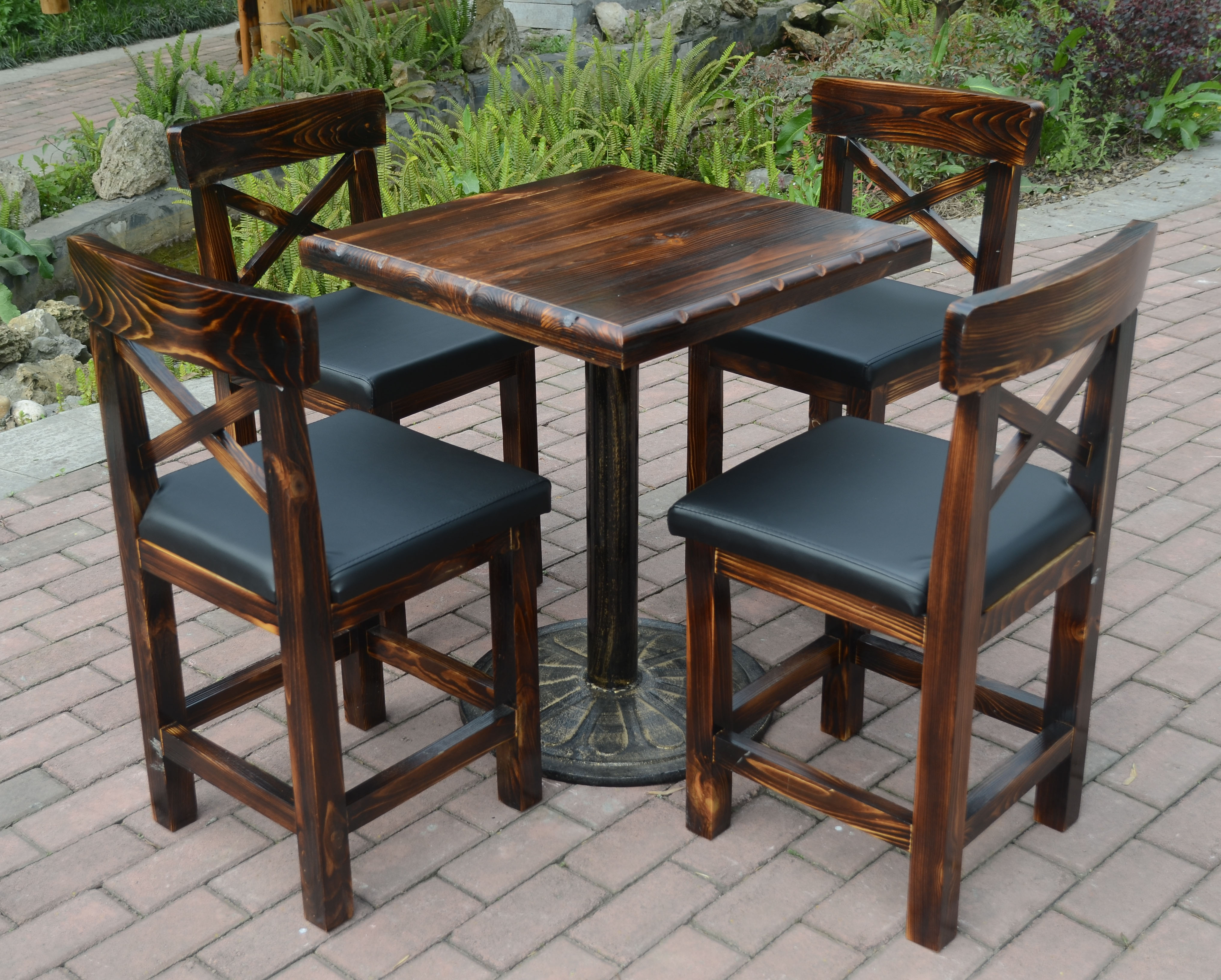Factory Direct Wood Bar Tables And Chairs Outdoor Leisure Furniture Balcony  Cafe Table 5 Preservative Kit In Outdoor Tables From Furniture On  Aliexpress.com ...