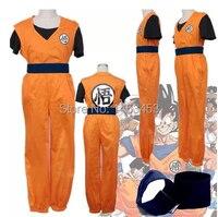 FREE SHIPPING Cosplay Costume Dragon Ball Z GoKu Fancy Party clothing 4PCS XS S M L XL 2XL
