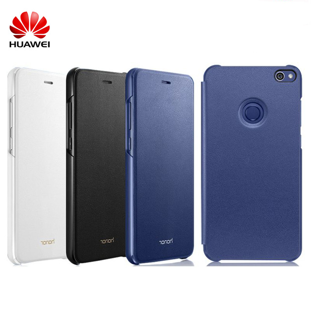 pick up 8dd7e ff4a9 US $9.99 |2017 New Original Official Huawei Honor 8 Lite/Youth Leather Flip  Case Premium PU Cover Protective Case For HUAWEI P8 Lite 2017-in Flip ...