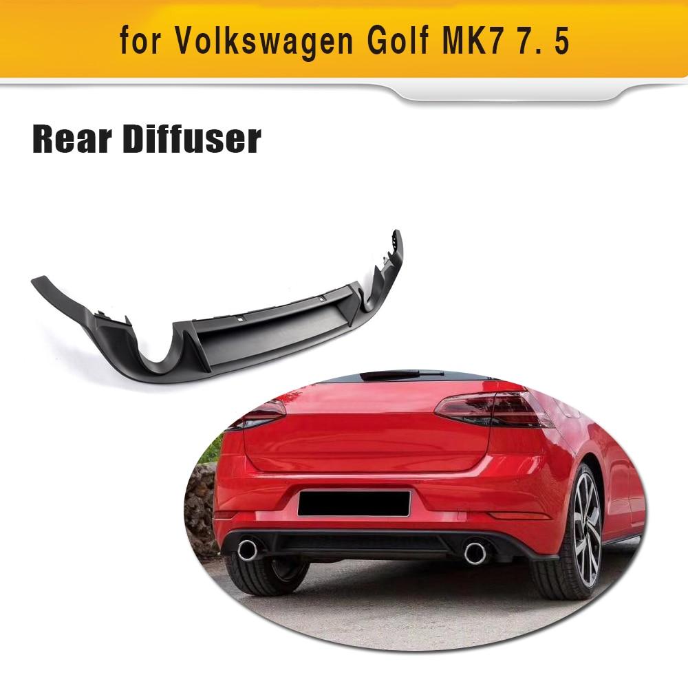 Car Black PP Rear Bumper Diffuser Lip Spoiler For Volkswagen VW Golf 7 MK7 Standard And GTI 2017 2018