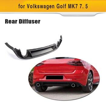 Автомобильный черный PP задний бампер диффузор спойлер для Volkswagen VW Golf 7 MK7 standard и GTI 2017 2018