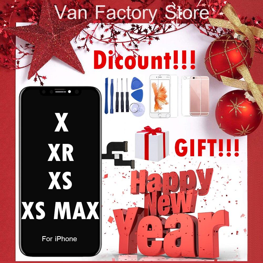 Meilleur AAA Pour l'iphone X S Max XR 8 écran lcd Pour Tianma AMOLED OEM écran tactile Avec remplacement du numériseur pièces d'assemblage Noir
