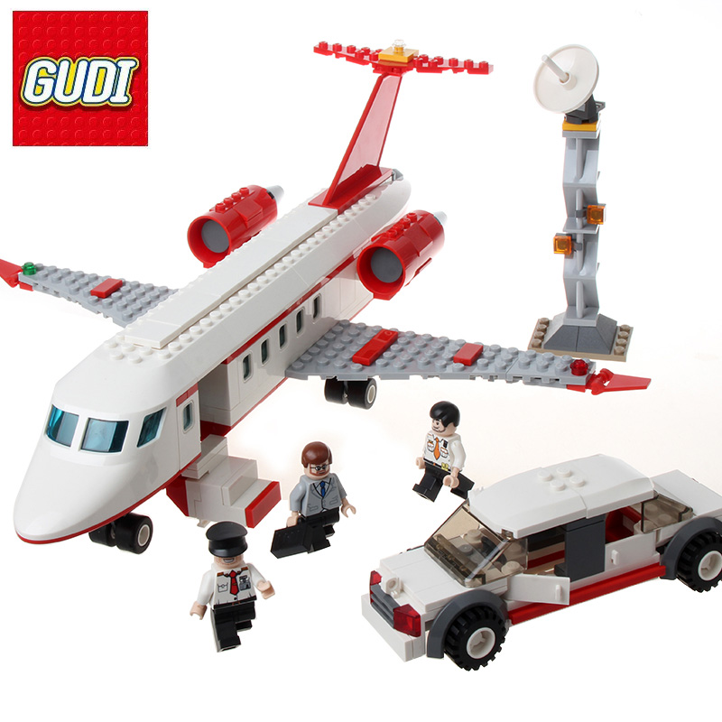 GUDI Block Compatible Legoe City Airplane Model Assembly Minecrafted Toy Building Blocks DIY Brick Educational Toys For Children lepin 562pcs building blocks toy tie fighter diy assemble figure educational brick brinquedos for children compatible legoe