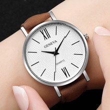 Fashion Leather Military Casual Analog Quartz Wrist Watch Business Watches