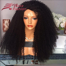 Afro Kinky Curly Density 180% Glueless Lace Front Wigs For Black Women Brazilian Human Hair Full Lace Wig Virgin Thick Hair Wigs