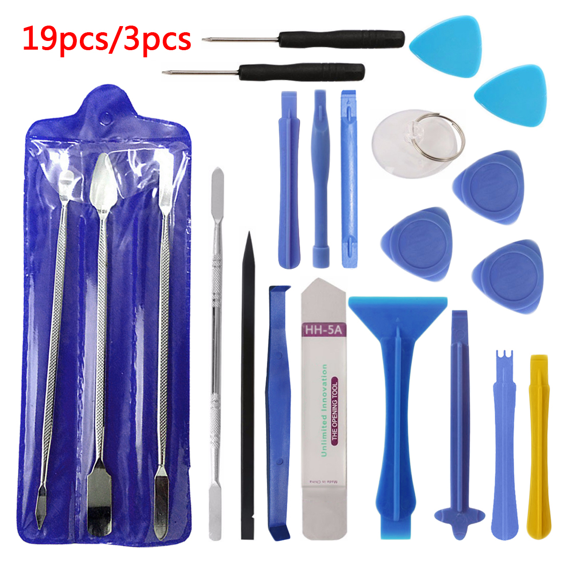 Hot Disassemble Tools 3pcs/19pcs Repair Tool Kit Opening Tool Metal Pry Bar Smartphone Screen Hand Tool Set For IPhone Tablet PC