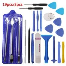 Hot Disassemble Tools 3pcs/19pcs Repair Tool Kit Opening Tool Metal Pry Bar Smartphone